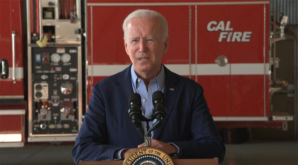 President Joe Biden delivered remarks in response to recent wildfires and to promote his...