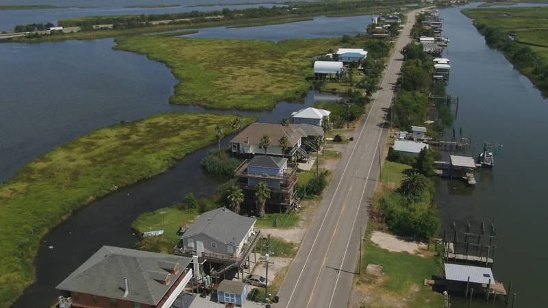 The Irish Bayou community straddles Louisiana Highway 11