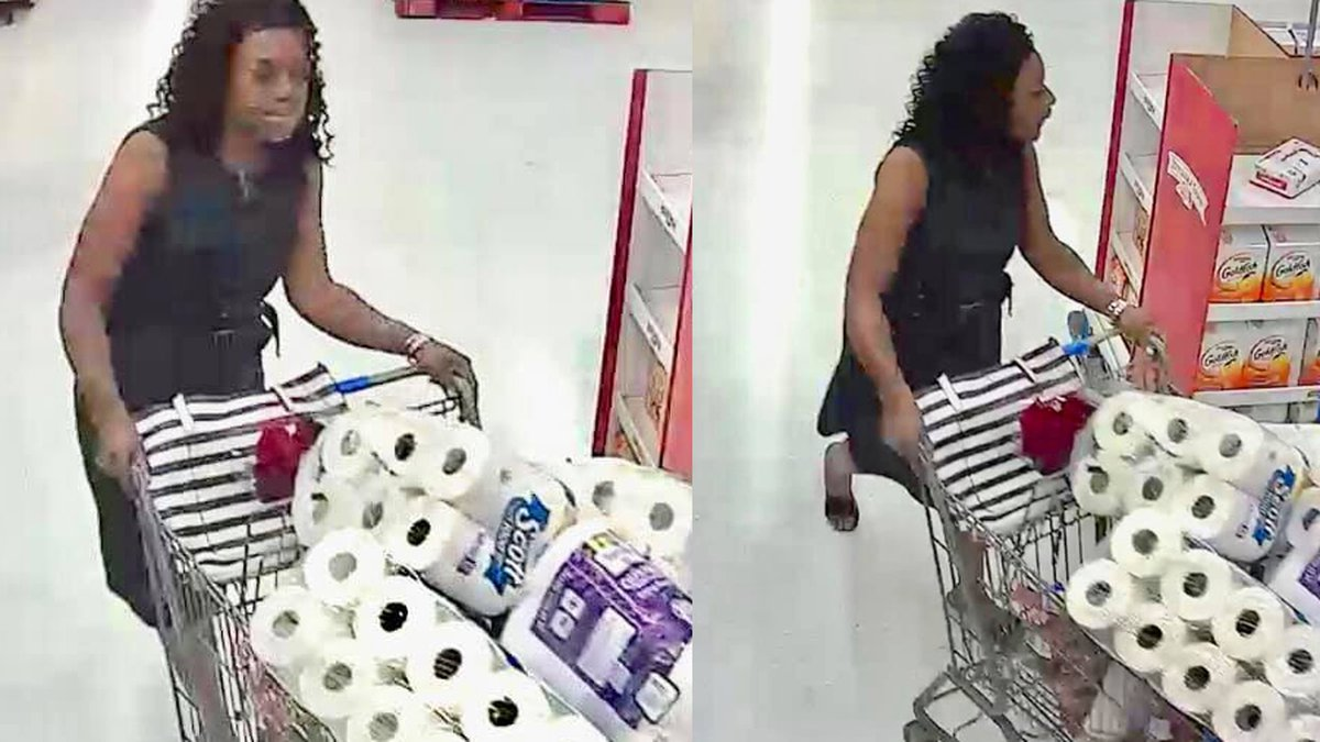 A woman allegedly stole over $700 in vodka and toilet paper.