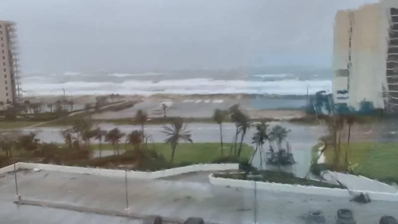Lynn Kumpf's view of Hurricane Sally as the storm neared the Alabama Gulf Coast