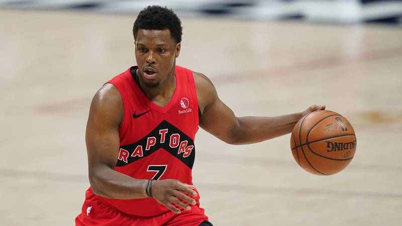 Toronto Raptors guard Kyle Lowry (7) in the second half of an NBA basketball game Thursday,...