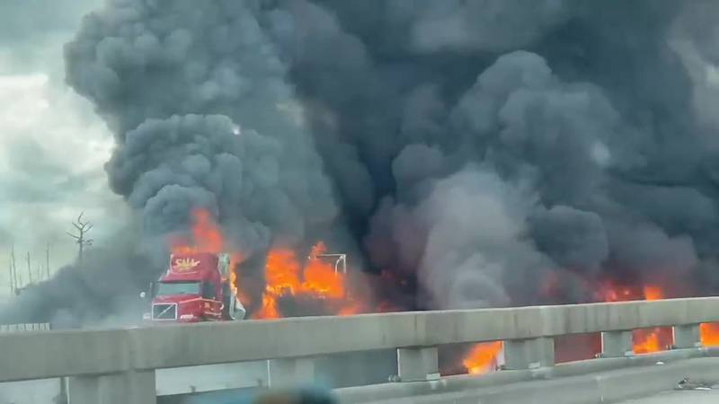 Vehicle fire closes Spillway for second time Monday