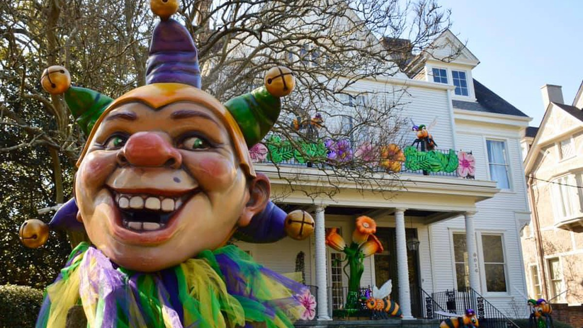In New Orleans, residents are designing their houses to look like floats and participating in...