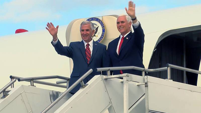Vice President Mike Pence is in Baton Rouge Oct. 28 to campaign for Eddie Rispone ahead of the...