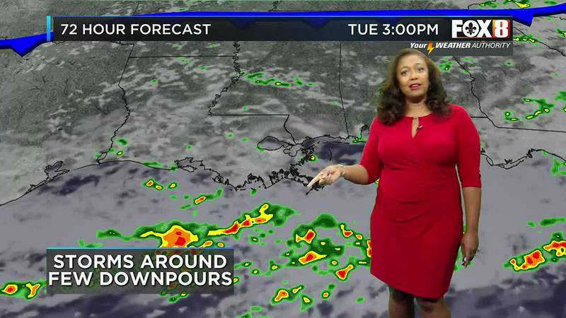 Storms Around ahead of cool front