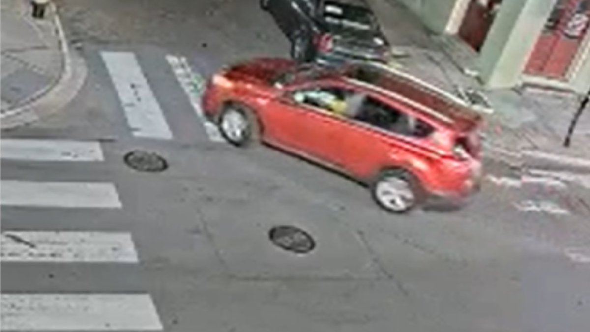 At around 3:08 a.m., two unknown men exited the pictured vehicle's rear passenger side door and...