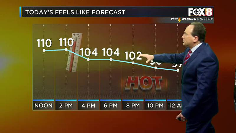 Bruce's noon forecast: Clouds from the SE may help keep us from frying