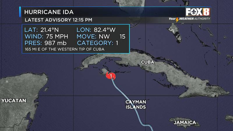 Ida was upgraded to a Cat. 1 Hurricane Friday just after noon and is expected to reach Cat. 3...