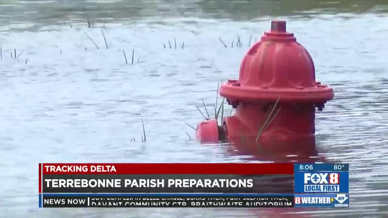As expected, areas of Terrebonne Parish are already seeing some flooding south of the floodgate.