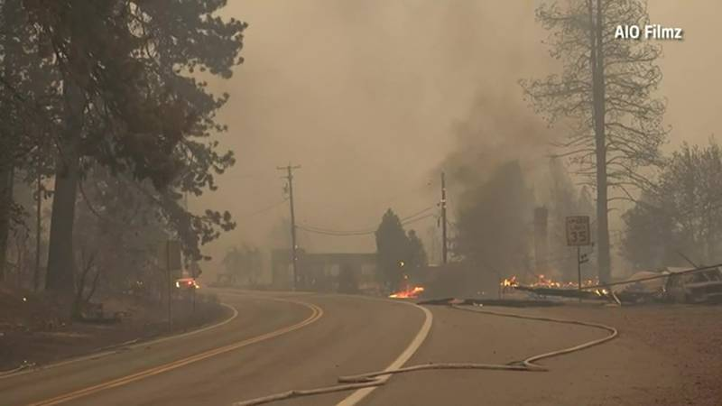 The Dixie Fire devastated Greenville, California, on Wednesday, ravaging its downtown.