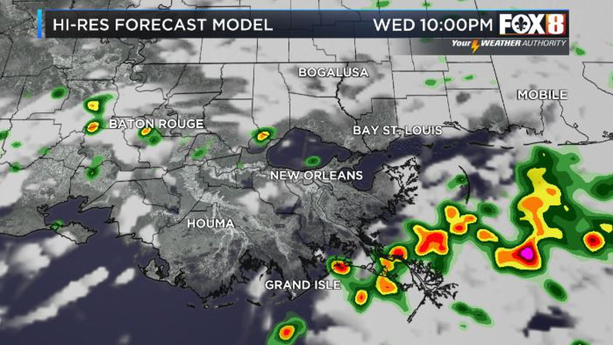Spotty showers over the next few days