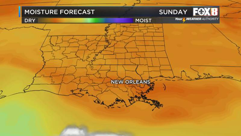 One more pleasant day with very low humidity for Sunday.