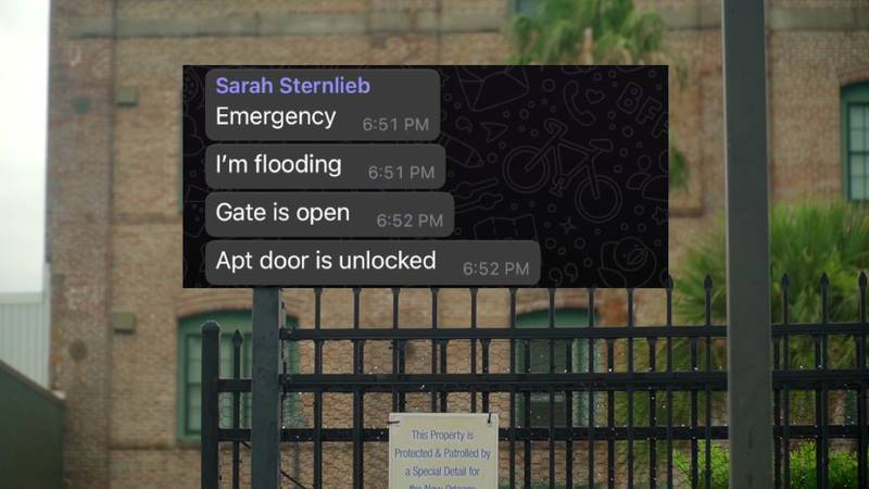 Sarah Sternlieb sent a group text to her fellow Ochsner residents, desperate for help during Ida.