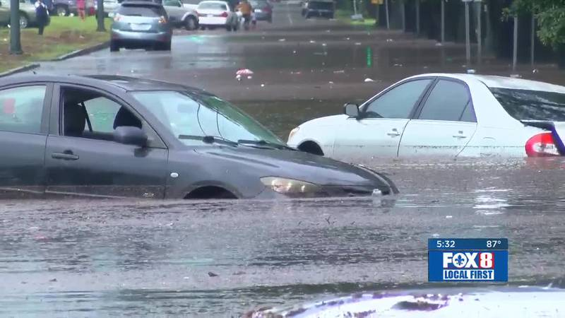 Heavy rains leave streets, cars flooded Wednesday, July 10, 2019