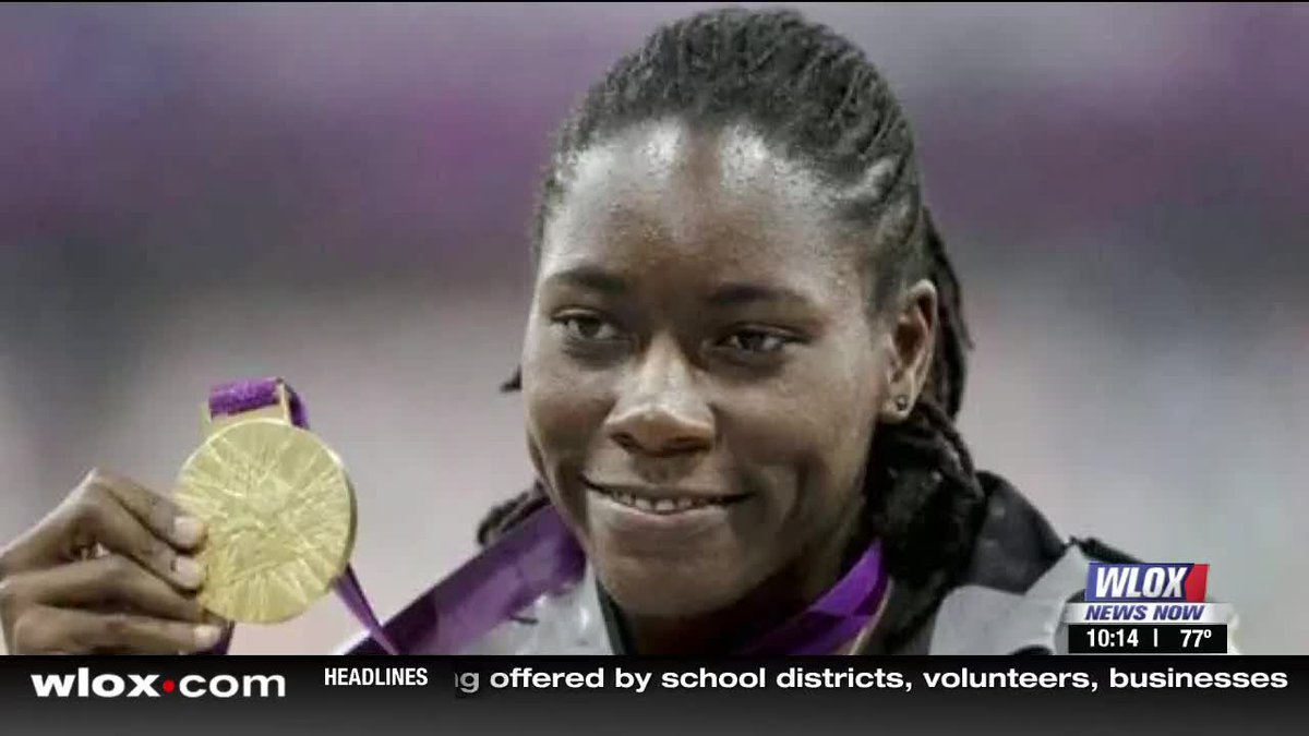 Brittney Reese qualified for the long jump finals. Her second 6.86m jump landed her the ticket...