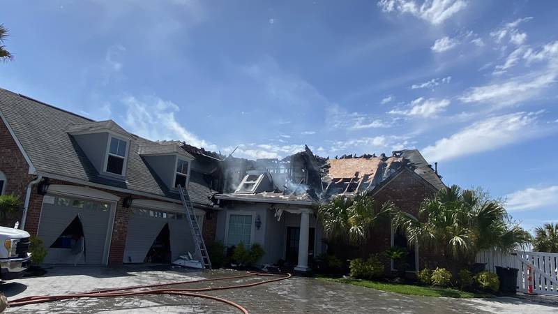 The St. Tammany Parish Fire Protection District #1 says a home was left heavily damaged after a...