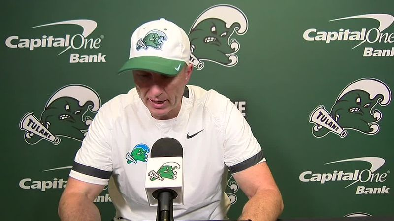 Coach Fritz reacts to Tulane's overtime loss to SMU