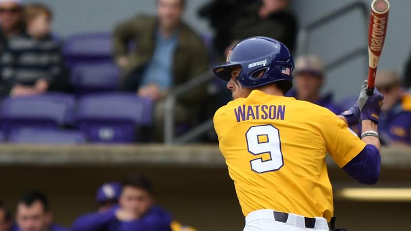 LSU center fielder Zach Watson