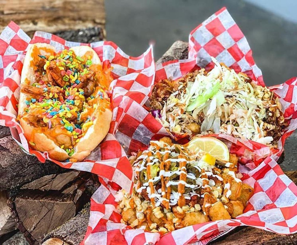 The Fruity Pebble Shrimp Poboy is a thing at this year's Cheyenne Frontier Days festival in...