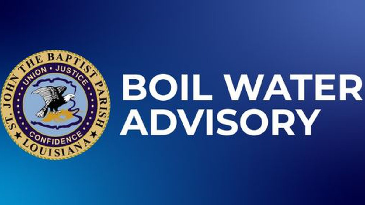 The La. Dept. of Health has issued a Boil Water Advisory for Reserve, Garyville & Mt. Airy as a...