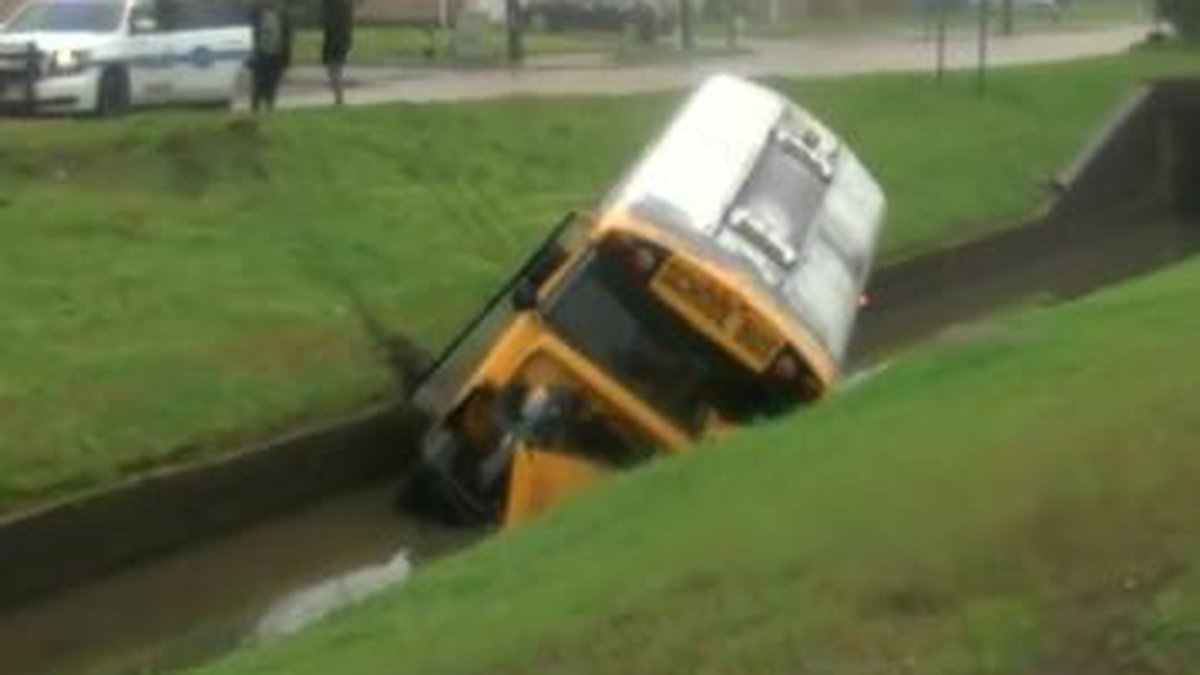 A bus crashed into a canal in New Orleans East Thursday.