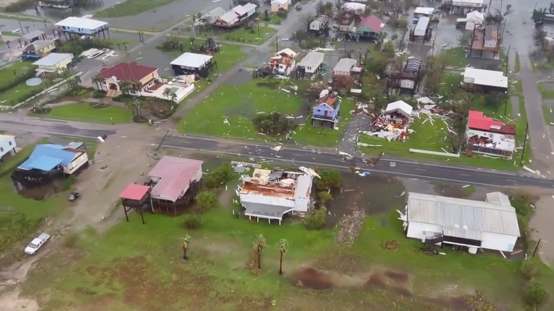 Damage left by Hurricane Ida in Louisiana