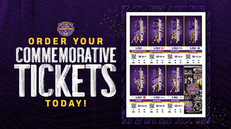 Order your LSU football commemorative tickets.