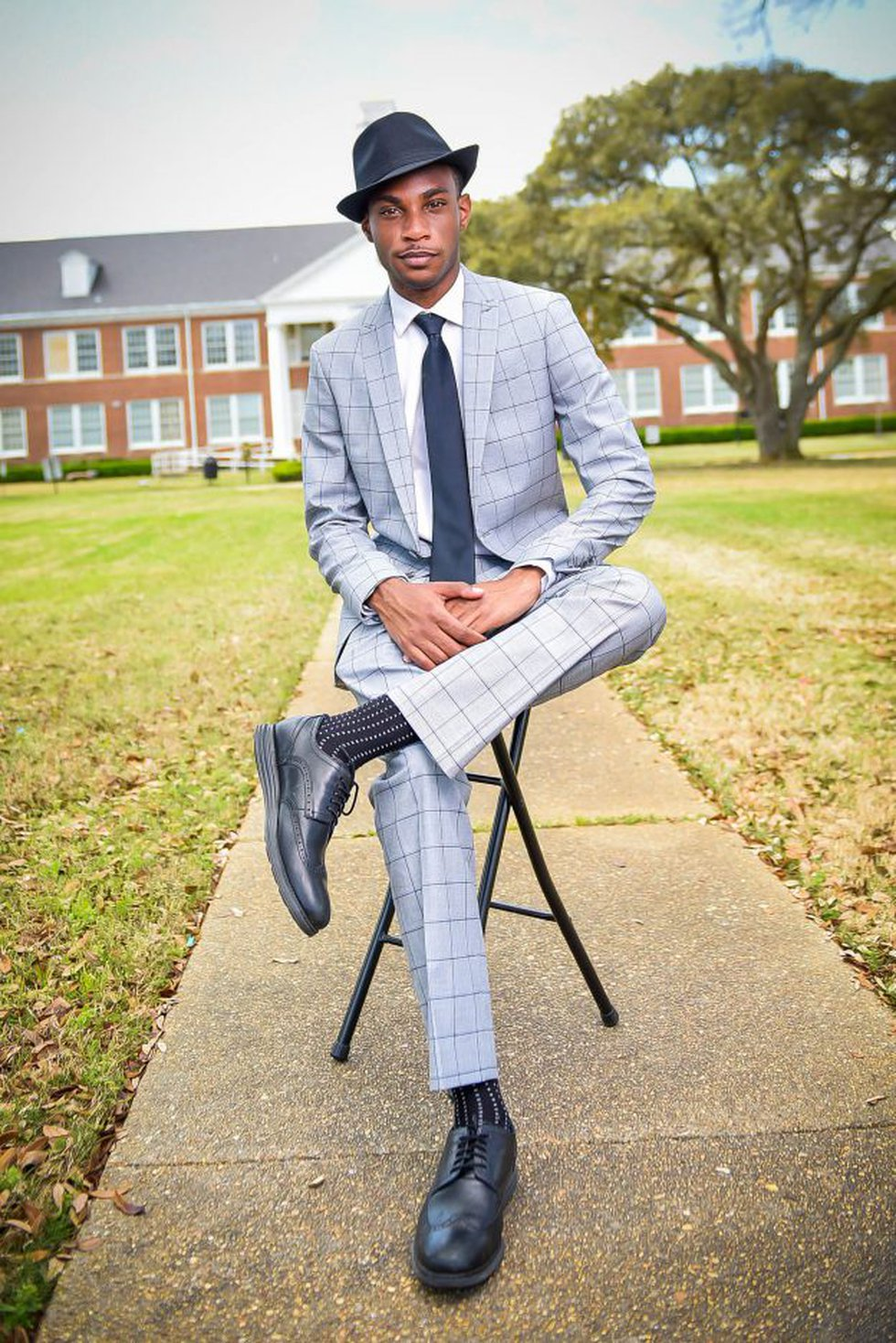 Stevie Wilson and his two brothers are set to graduate from Grambling State University.