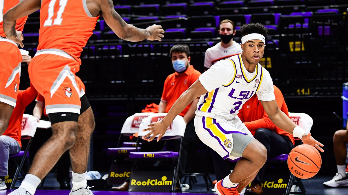 Jalen Cook of the LSU Tigers during a game against the Sam Houston State Bearkats at Pete...