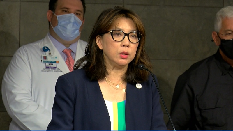 Jefferson Parish President Cynthia Lee Sheng discusses surge in COVID19 cases and hotspots in...